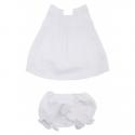 Dukat Top & Pantie - White Linen