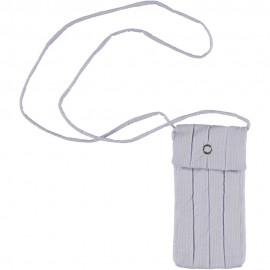 Mobile Purse - White and Blue Striped