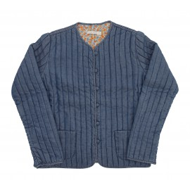 Audrey Quilted Jacket - Washed Denim