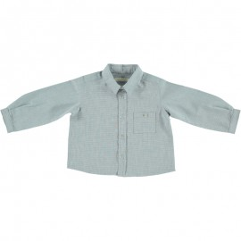 Felix Shirt - Blue Beige Mini Check