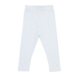Kimmy Leggings Cross Stitch Print - Cross Stitch/Pearl Blue