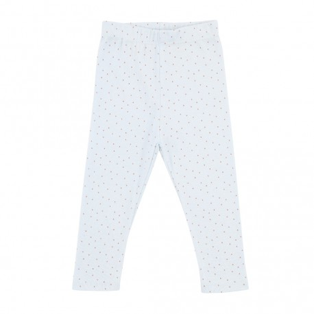 Kimmy Leggings Cross Stitch Print - Cross Stitch/Pearl Blue