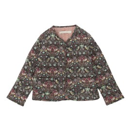 Audrey Quilted Jacket - Strawberry Thief Pink