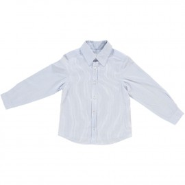 Freddie Shirt - White and Blue Stripe