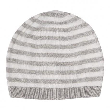 Ashley Hat - Light Grey Melange/Off White