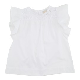 Annabell Tunic - White Cotton Embroidery