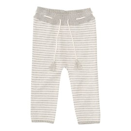 Dagmar Pant - Light Grey Melange/Off white