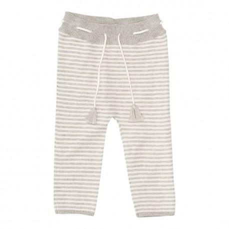 Dagmar Pant - Light Grey Melange/Off white