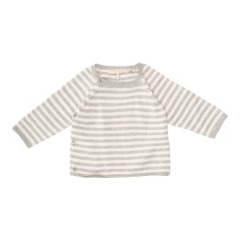 Ditte Jumper - Light Grey Melange Off White