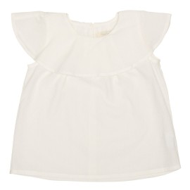 Alissa Top - White Jaquard