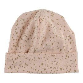 Baby Hat - Scallop Shell Gold Dot