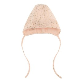 Baby Cap- Scallop Shell Gold Dot