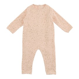 Terry Jumpsuit - Scallop Shell Gold Dot