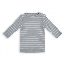 Addison Stripe Tee - Winter Blue