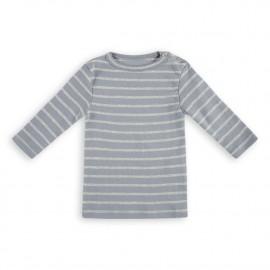Addison Stripe Tee - Winter Blue