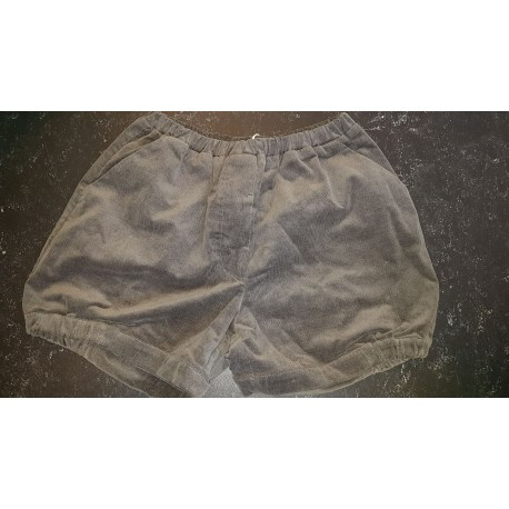 Dot Shorts - Grey Velvet Cord