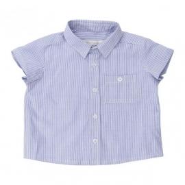 Felix Shirt -Bred Blå Strib