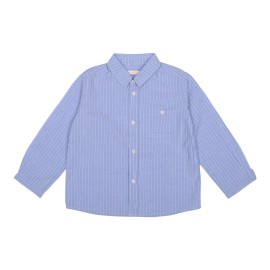 Felix Shirt - Blue Cotton Linen