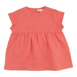 Phoebe Dress - Spiced Coral