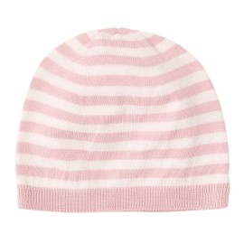 Ashley Hat - Shimmer Rose/Off White