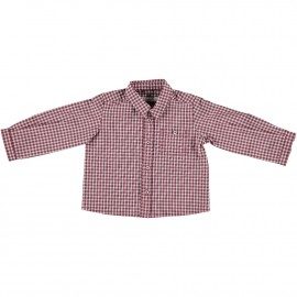 Felix Shirt - Navy and Bordeaux Check