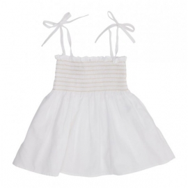 Mandarina Dress - White Stripe